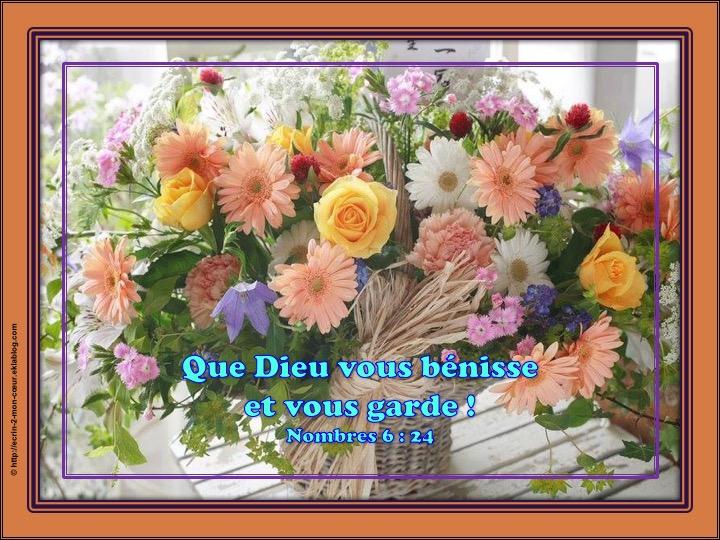 Que Dieu vous bénisse et vous garde