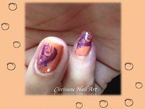 """Nail art """"peach"""""""