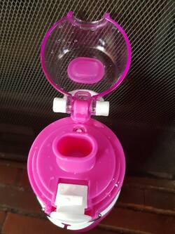 Superbe bouteille rose