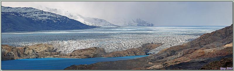 Glacier Upsala vu du Lac Guillermo - Estancia Cristina - Lago Argentino - Patagonie - Argentine