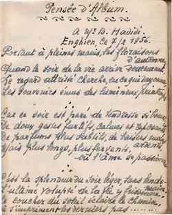 Poème inédit 7.2.1956