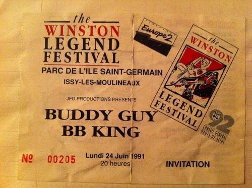 Mes concerts: B.B. King et Buddy Guy, le 24 juin 1991 à Issy-Les-Moulineaux