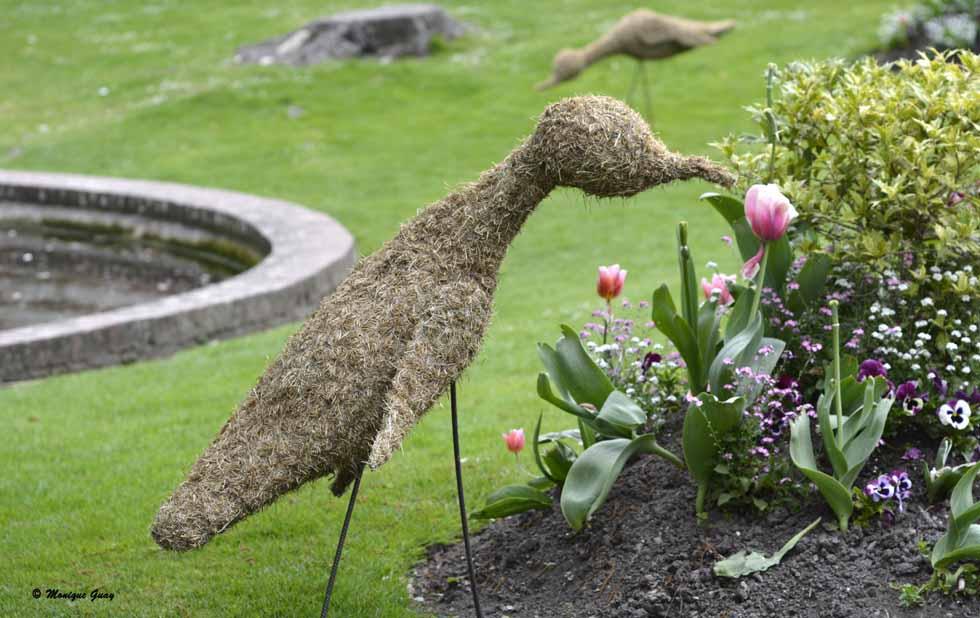 Sculptures en paille à Abbeville