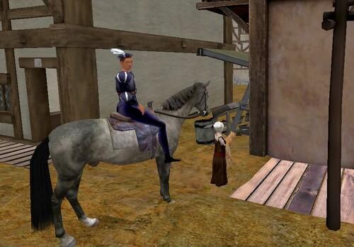 Le Troubadour, la Fillette, et le Cavalier