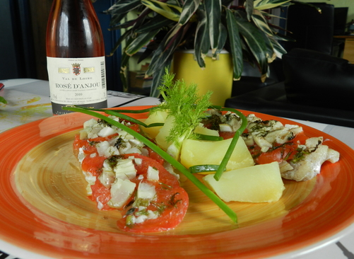 Cabillaud tomates-fenouil en papillote