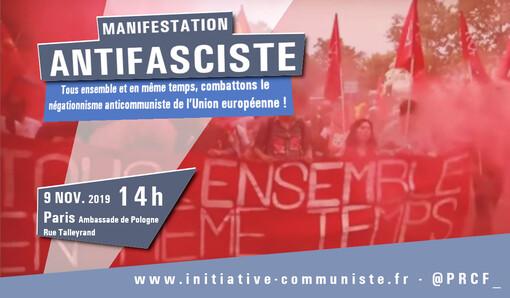 """Anticommunisme et eurofascisation : entretien avec F Kassem. """"tous ensemble, manifestons à Paris le samedi 9 novembre"""" (IC.fr-4/11/19)"""