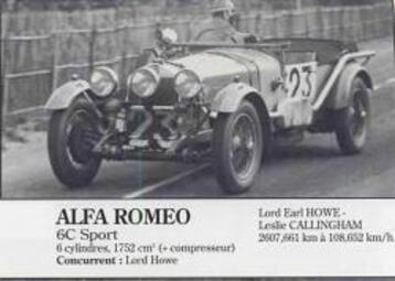 Alfa Roméo au Mans (1) 1930-1939