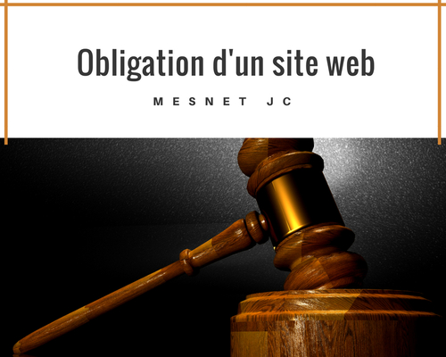 Obligations d'un site web professionnel
