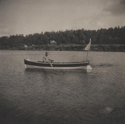 Nicholas II on a boat ride