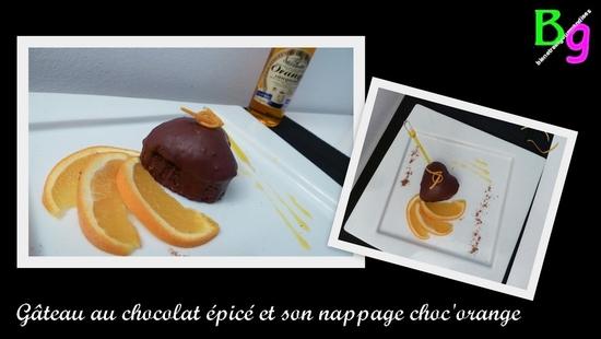 Gâteaux chocolat épices, nappage choc'orange
