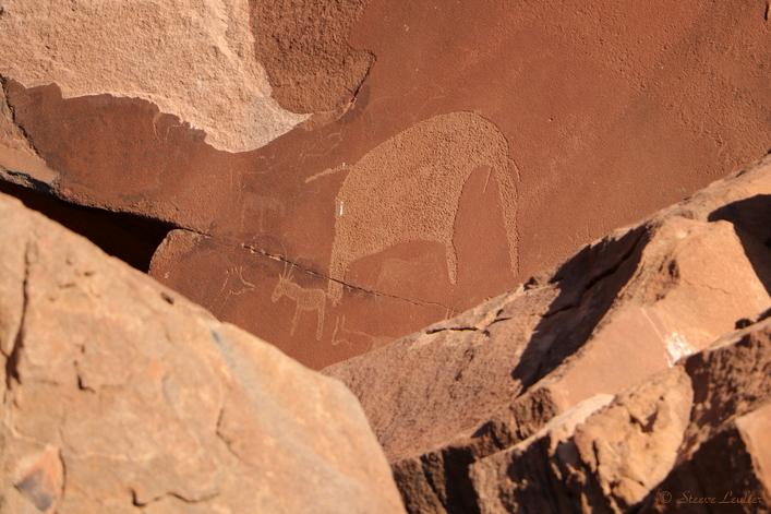 Twyfelfontein, un des principaux sites d'art rupestre africain, Namibie