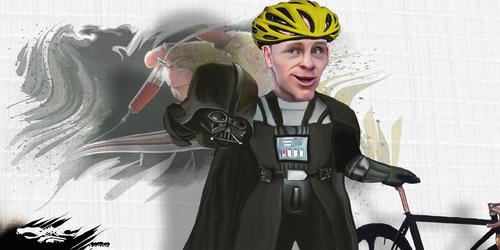 dessin de JERC du jeudi 14 décembre 2017 caricature Christopher Froome le côté obscur du cyclisme www.facebook.com/jercdessin