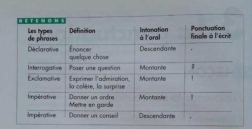C / Les différents types de phrases