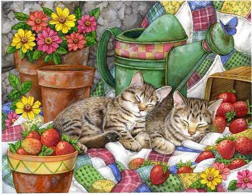 Peinture de chats