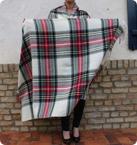 Mon tartan poncho DIY sélectionné par Dame de Pic