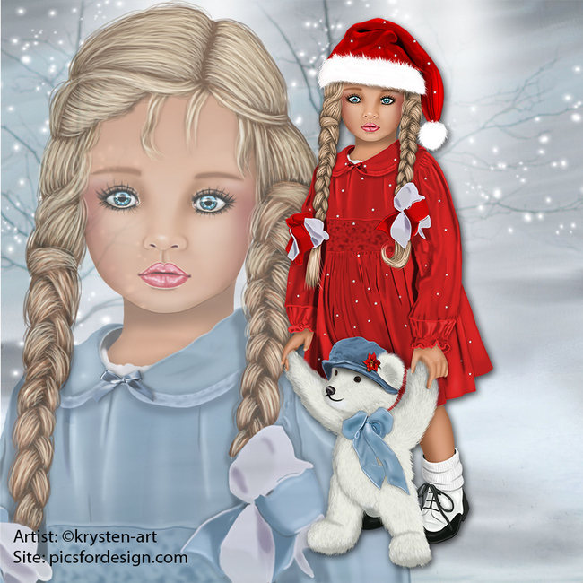 Noel blanc avec Cloé
