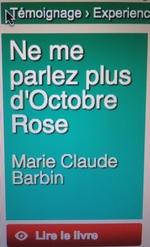 NE ME PARLEZ PLUS D'OCTOBRE ROSE!