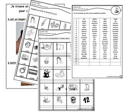 Confusions bd d Ce1, Ce2, lire, écrire, compléter, mots