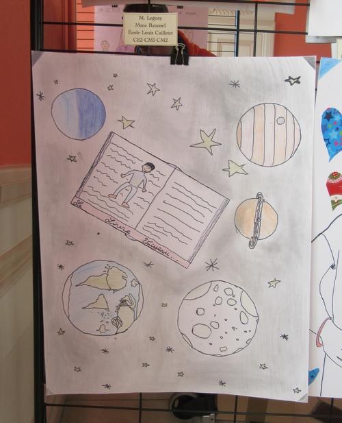 La Bibliothèque Municipale de Châtillon sur Seine a organisé un concours d'affiches dans les écoles, lors de la Journée de l'Ecrit