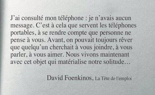 Mon téléphone s'appelle La Solitude