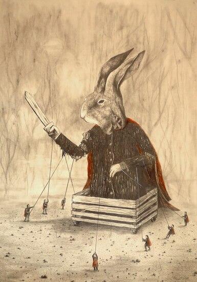 08 - Des lapins - dessin