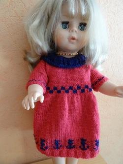 Fiche N° 201: robe poupée 40cm
