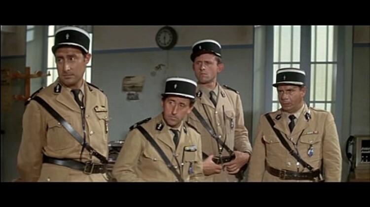LOUIS DE FUNES - MICHEL GALABRU - LE GENDARME DE SAINT TROPEZ - 1964