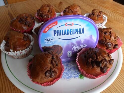 *** Muffins au Philadelphia Milka ***