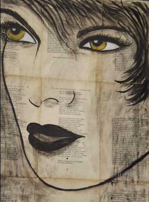 Peinture: La fille aux.....