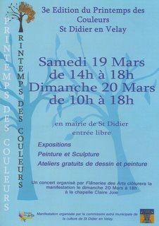 LE PRINTEMPS DES COULEURS DU 19 AU 20 MARS 2011