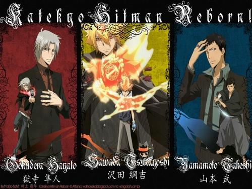 Gokudera, Primo,Tsuna et Yamamoto