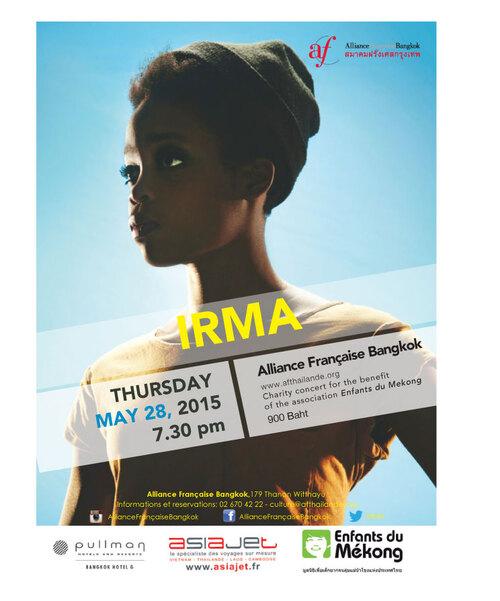 Concert d'IRMA au profit d'Enfants du Mékong