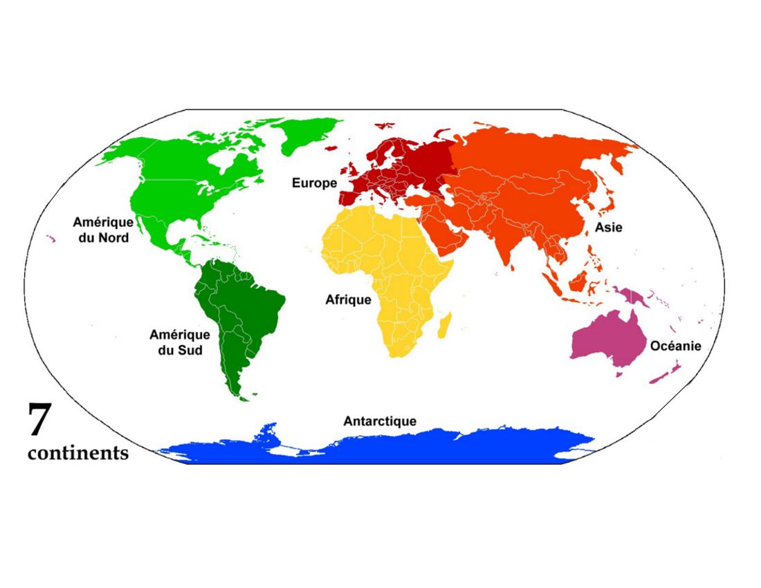 continents-carte-du-monde - Photo
