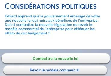 considérations politiques