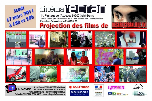 Invitation Projection du 17 Mars au cinéma L'Écran Saint Denis
