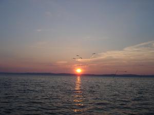 Siòfok, coucher de soleil sur le Balaton