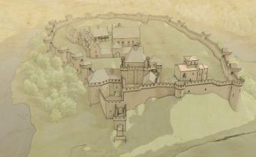 Enceinte du château de Tiffauges reconstituée