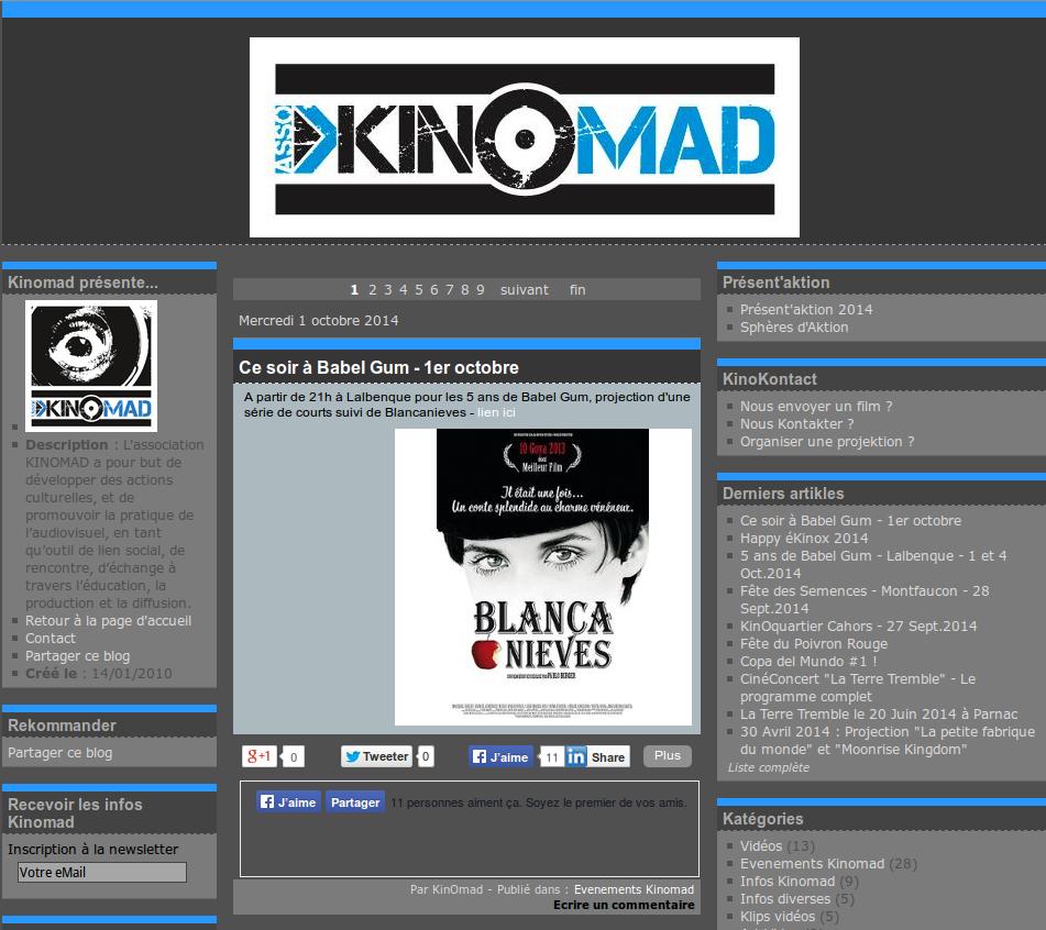 """KINOMAD, une association pour une """"ÔDE yo VISUELLE & SOCIALE"""""""