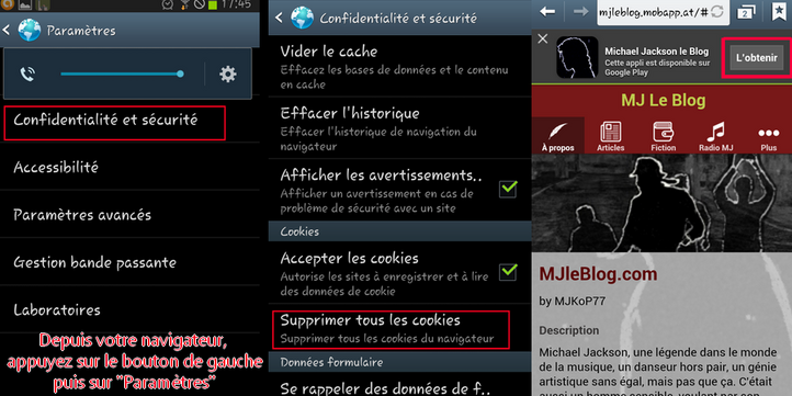 Michael Jackson le Blog : l'Application