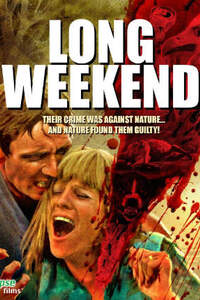 Long Weekend : Un couple profite d'un long week-end pour partir en camping et se retrouver. Mais leur intrusion sans gêne dans ce bush ''préservé'' excite la faune et la flore. Face à une Mère Nature qui sait comment leur faire sentir qu'ils ne sont pas les bienvenus, ils ne savent pas s'ils vont pouvoir s'en sortir... Origine : australien  Réalisation : Jamie Blanks  Acteur(s) : Jim Caviezel,Claudia Karvan,Robert Taylor (VIII)  Genre : Epouvante-horreur  Date de sortie : 19 octobre 2010en DVD  Année de production : 2008  Critiques Spectateurs : 2,2