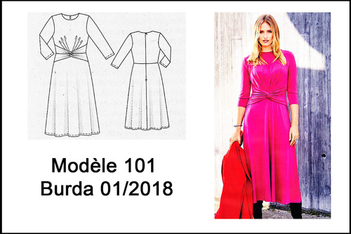 Robe 101 Burda 01/2018 Version estivale