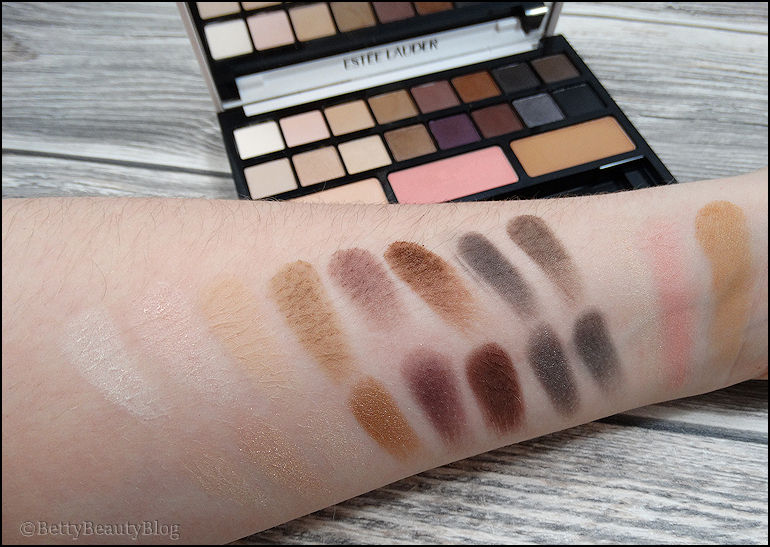 Focus sur la palette Estée Lauder sculpting eyes shadows