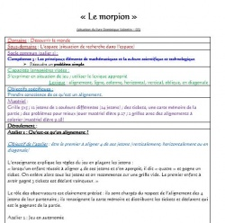 "Situation ""Le morpion"" Grande Section"