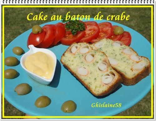 Cake au baton de crabe