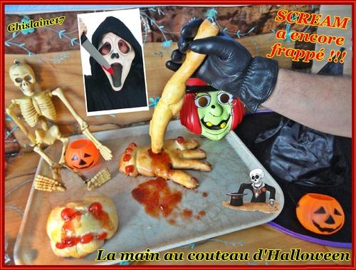 La main et le couteau d'Halloween