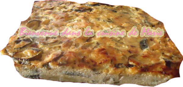 TARTE FROIDE BROUSSE MENTHE COURGETTES