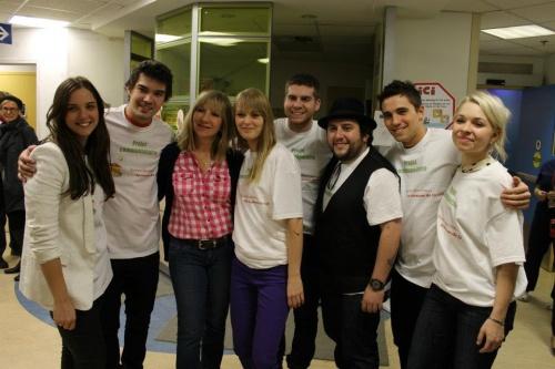 Visite à Hôpital Sainte-Justine - 31 mars 2012