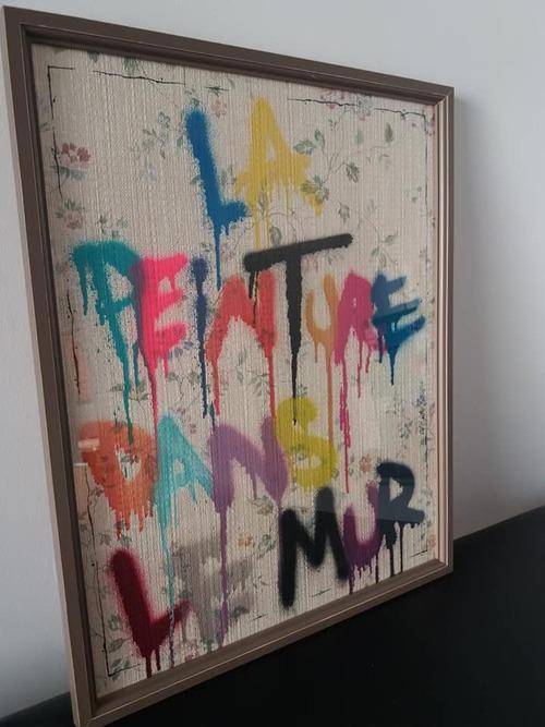 """30x40cm. """"La peinture dans le mur"""""""