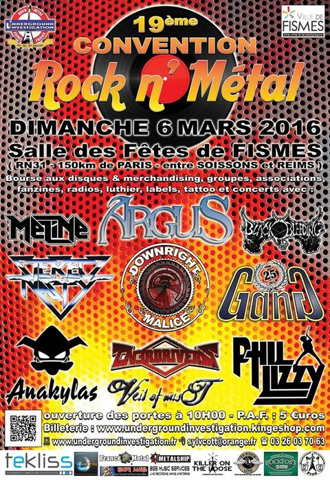 CONVENTION ROCK N' METAL - Fismes - 6 Mars 2016