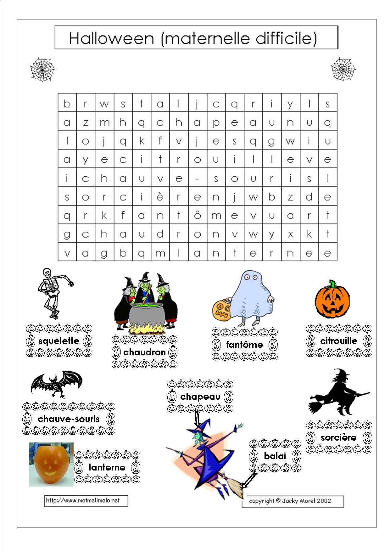 Halloween ritamoutarde en clis - Creer une grille de mots croises en ligne ...